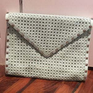 Rebecca Minkoff Mint Studded Envelope Clutch